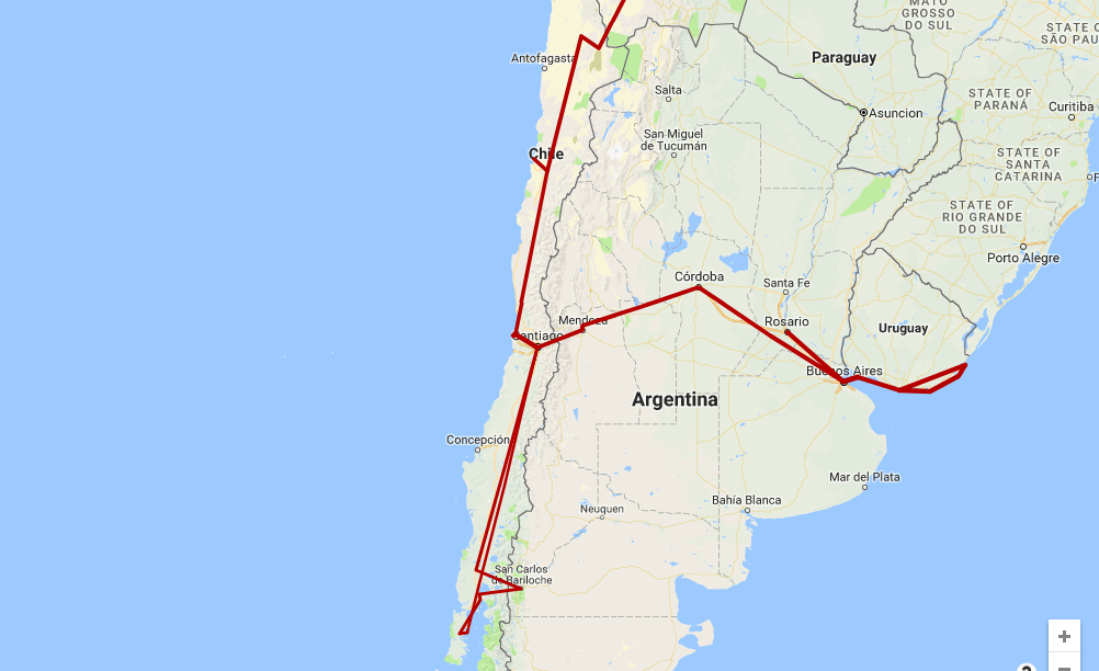 itinerary plan route trip chile 4 weeks month where to go visit stay see