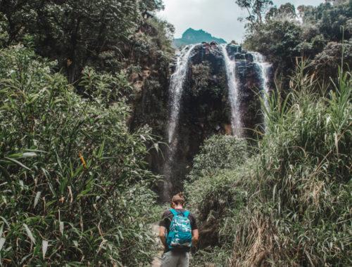 banos waterfalls cascadas ruta ecuador hiking cycling trek trail adventure
