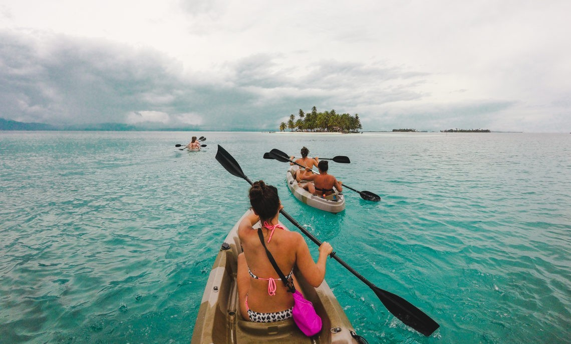 kayaking How to book a San Blas Islands boat tour bluesailing Sailing Koala X San Bas Adventures Colombia to Panama boat paradise islands caribbean