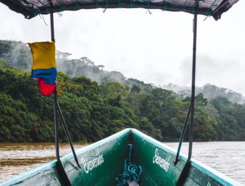 Chalupa boat tour Rio Napo Ecuador Amazon rainforest