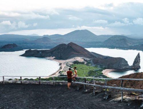 Bartholomew island galapagos islands viewpoint volcano
