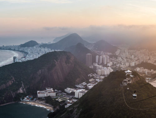 Sugarloaf mountain view of copacabana beach best areas to stay in Rio de Janeiro brazil