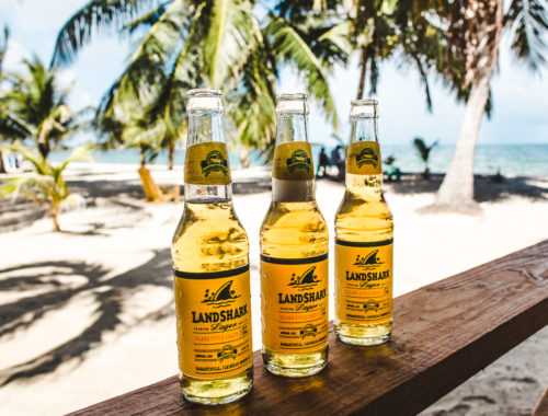 Landshark beer Cozy Corner Best bars and restaurants in Placencia Belize