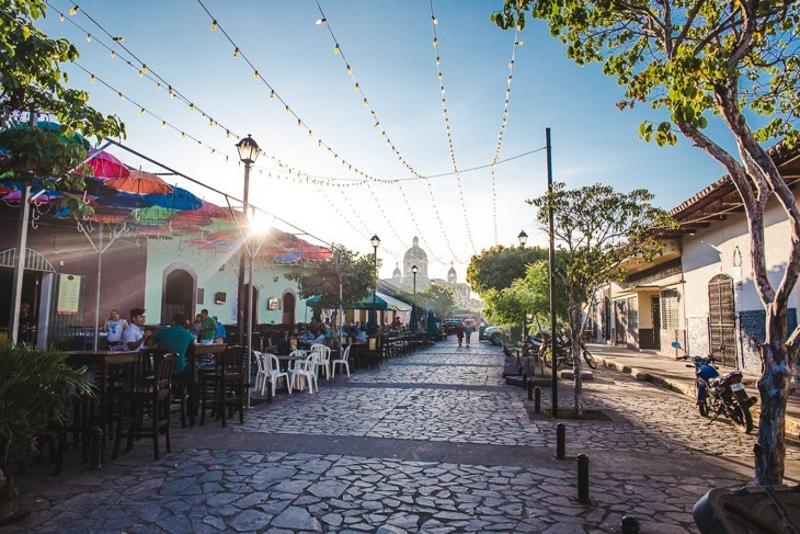 Cathedral sunset Things to do in Granada Nicaragua best hostels nightlife la calzada