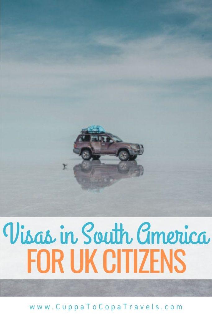 tourist visas in South America for UK citizens british passport fees bolivia
